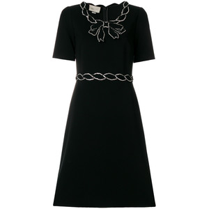 crystal trim dress