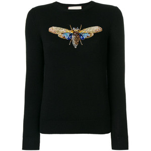 moth embroidered sweater