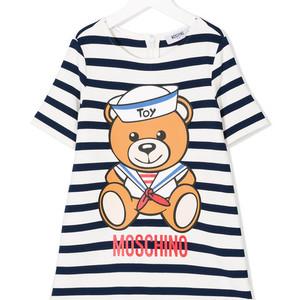 striped bear T-shirt dress