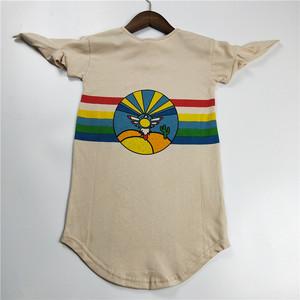 Bandy Button Rainbow Tee Dress